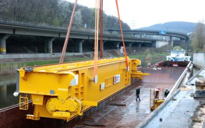 Saarstahl: Neuer Roheisentransportkran für das LD-Stahlwerk