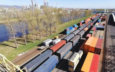 Contargo Industriepark Frankfurt-Höchst: erster Zug aus Jinan eingetroffen