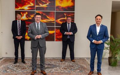 """Der Bundesinnnovationsbeauftragte """"Grüner Wasserstoff"""" besucht den Standort Dillingen"""
