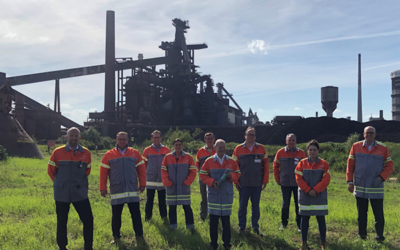Klimaneutrale Stahlproduktion: Bundesfinanzminister Olaf Scholz besucht ArcelorMittal Bremen