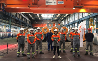 Annalena Baerbock besucht ArcelorMittal-Werk in Eisenhüttenstadt