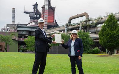 Svenja Schulze besucht thyssenkrupp Steel in Duisburg