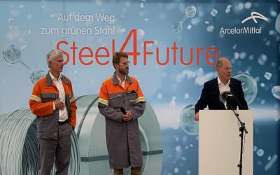 Green Steel: Olaf Scholz besucht ArcelorMittal Hamburg
