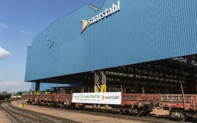 Erster CO2-armer Stahl von Saarstahl Ascoval im  Saarland eingetroffen